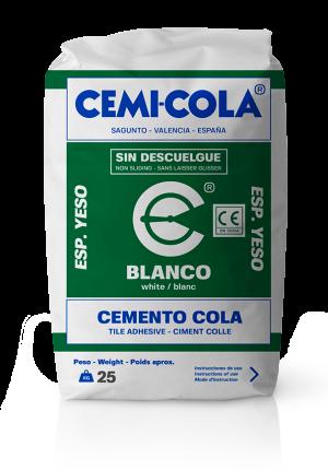 Cemento cola blanco Esp. Yeso Cemi-Cola