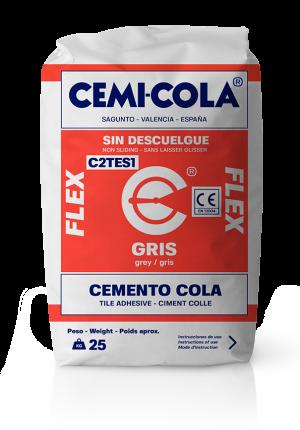 Cemento cola gris flex Cemi-Cola