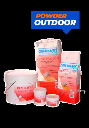 Putty fine plaster renovation powder outdoor Cemi-Cola
